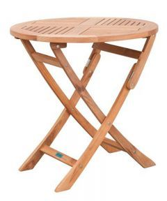 Exotan vouwbare tafel rond Ø 80cm - teak